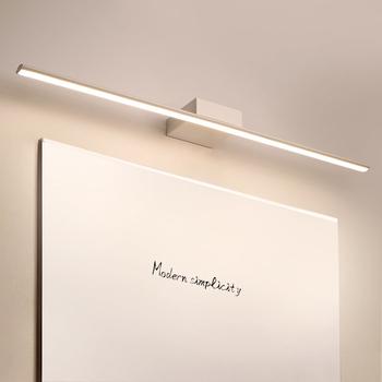 NEO Gleam czarny biały 0 4-1 2M nowoczesna efekt lustra światła przeciwmgielne LED oświetlenie łazienkowe toaletka toaleta lustro łazienkowe lampa tanie i dobre opinie Do montażu na ścianie Żarówki led Klin W górę iw dół Nowoczesne Metrów 5-10square Kinkiety Metal Pokrętło przełącznika