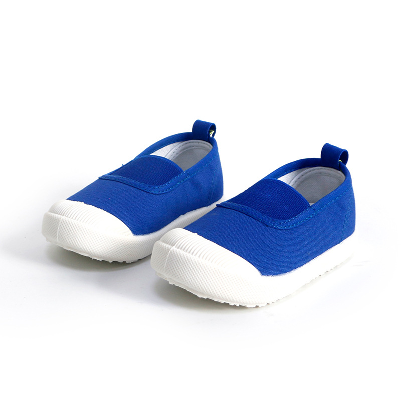 New Slip-on Kids Shoes Boys Girls Unisex Sneakers Candy Color Children Canvas Casual Running Sports Shoes Soft EU 21-30
