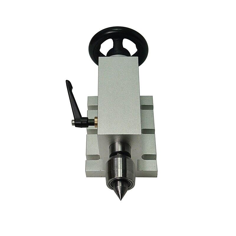 CNC Machine à bois hauteur centrale 65mm poupée mobile 4 axes MT2 axe rotatif tour pour CNC routeur fraiseuse