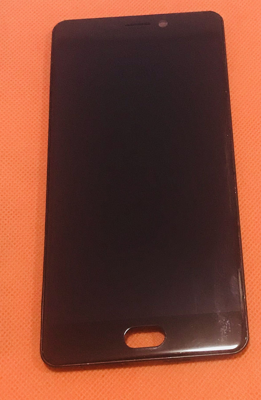 Used Original LCD Display Screen+ Touch Screen+ Front Frame For Elephone P8 Helio P25 Octa Core 5.5 FHD Free shipping
