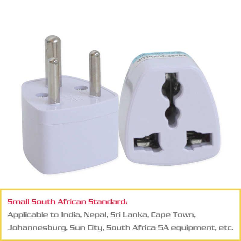 1 PC 3 pin indie adapter podróżny adapter zasilania AC Multi Outlet gniazdo adaptera uniwersalny UK/US/EU/AU do małych republika południowej afryki wtyczka