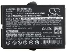Кэмерон китайско 600 мАч Батарея 2303691, BT06 для ikusi 2303691, TM60, TM61, TM61Transmitters, TM62, TM62 передатчики
