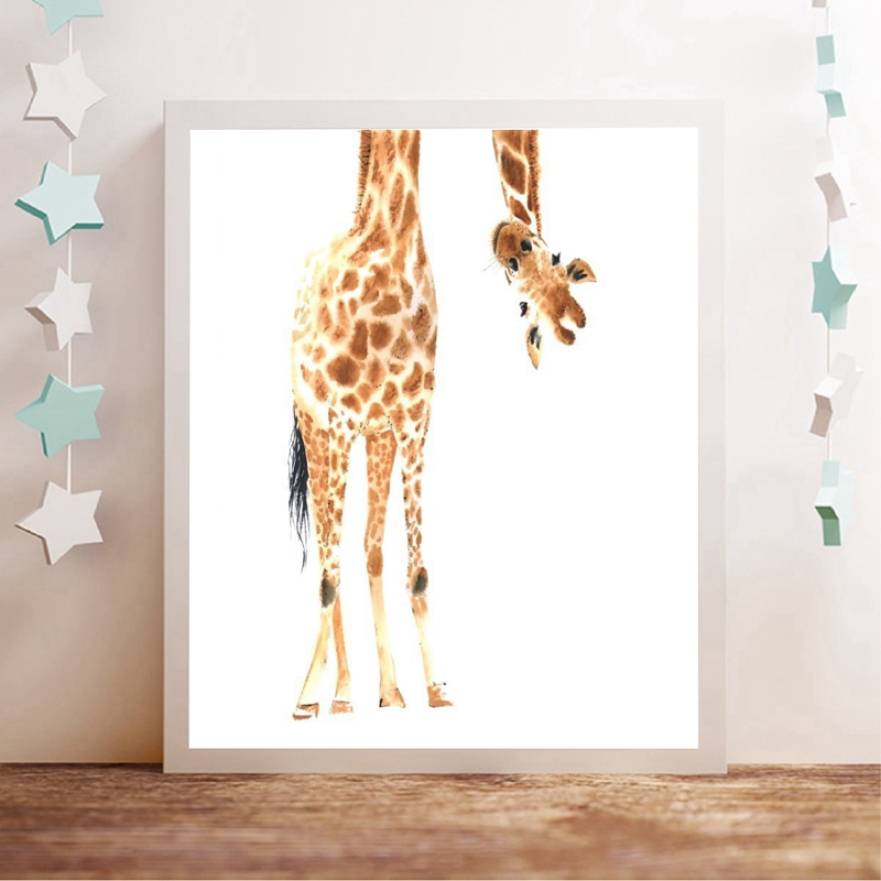 Giraffe Canvas Art Prints Baby Room Decor