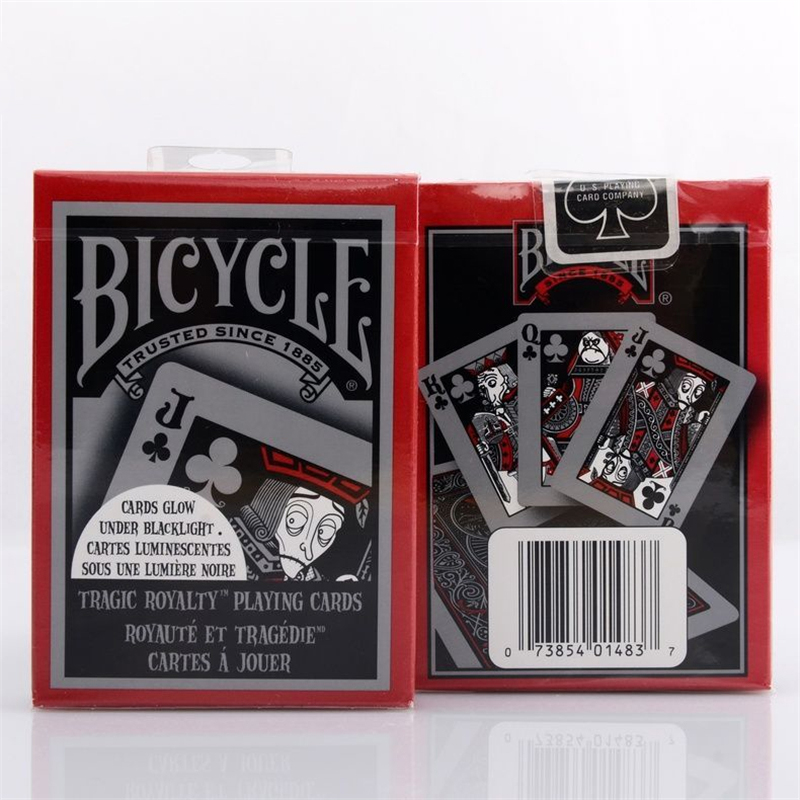 1 DECK Cykel Tragisk Royalty Standard Pokerspel Kort Tragikyheter Däck Brand New Deck Magic Cards MagicTricks rekvisita 81217