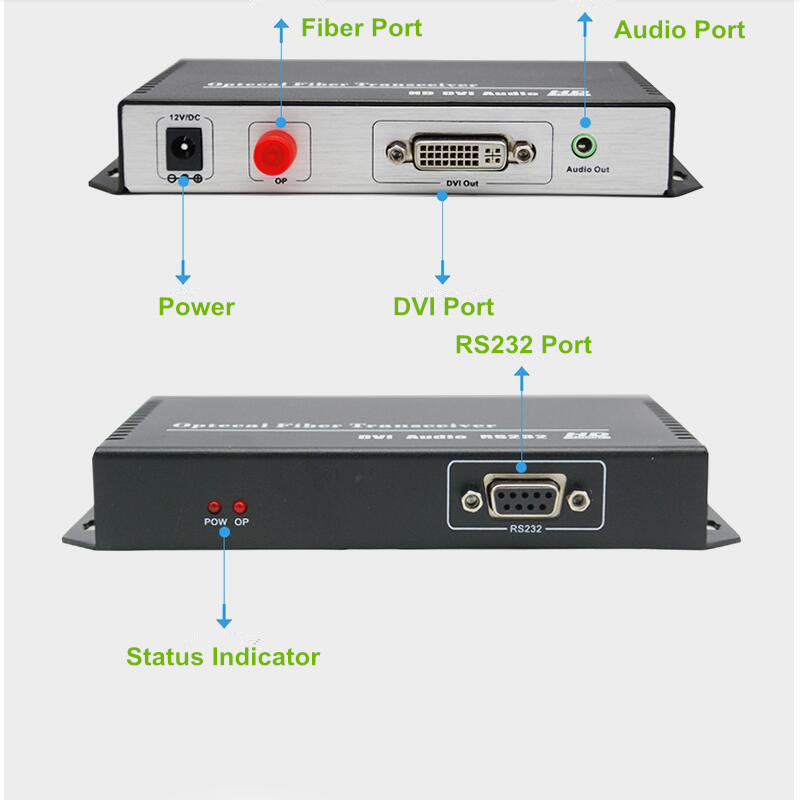 ZY DT303 DVI Video Transmission 20km DVI Over Fiber Optic Audio Converter 1080P DVI Fiber Optical