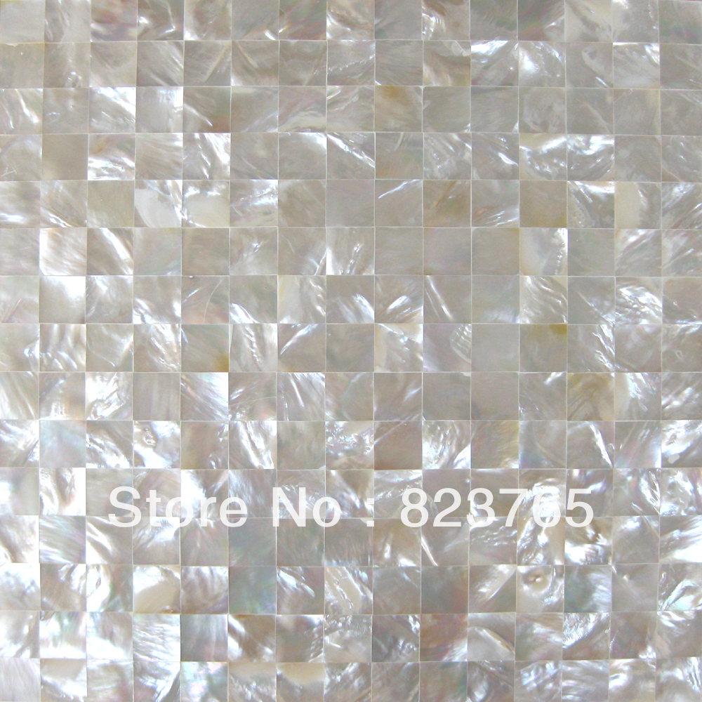 White Lip Shell Mosaic Tile Seashell Mother Of Pearl