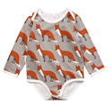Christmas Newborn Baby Boy Girls Fox Cotton Long Sleeve <font><b>Romper</b></font> 2017 New Arrival Fashion Jumpsuit Outfits Clothing For Newborns
