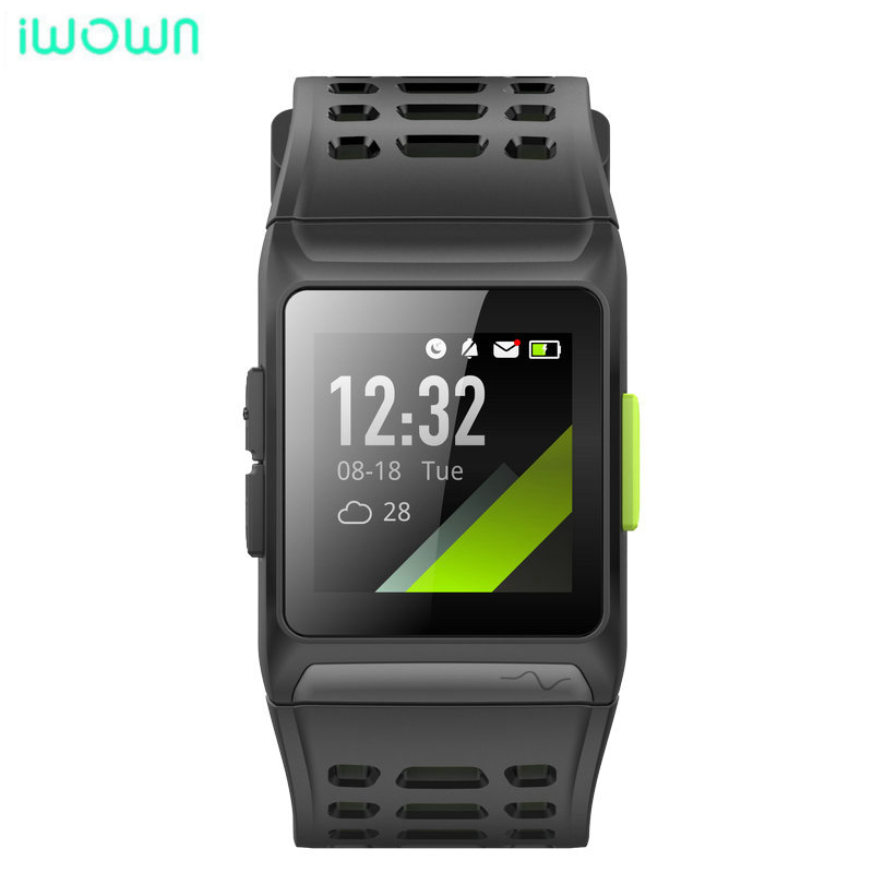 iwownfit iwown P1 Smart Watch Heart Rate ECG detection HRV analysis built in GPS IPS color screen Multiple sports modes Bracelet-in Smart Watches from Consumer Electronics    1