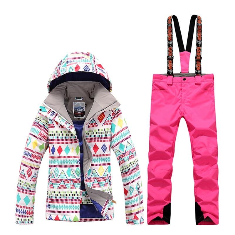GsouSnow hiver femmes nouveau ski costumes coupe-vent imperméable chaud respirant alpinisme ski neige costumes sports de plein air