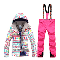 GsouSnow winter women's new ski suits windproof waterproof warm breathable mountaineering ski snow suits outdoor sports