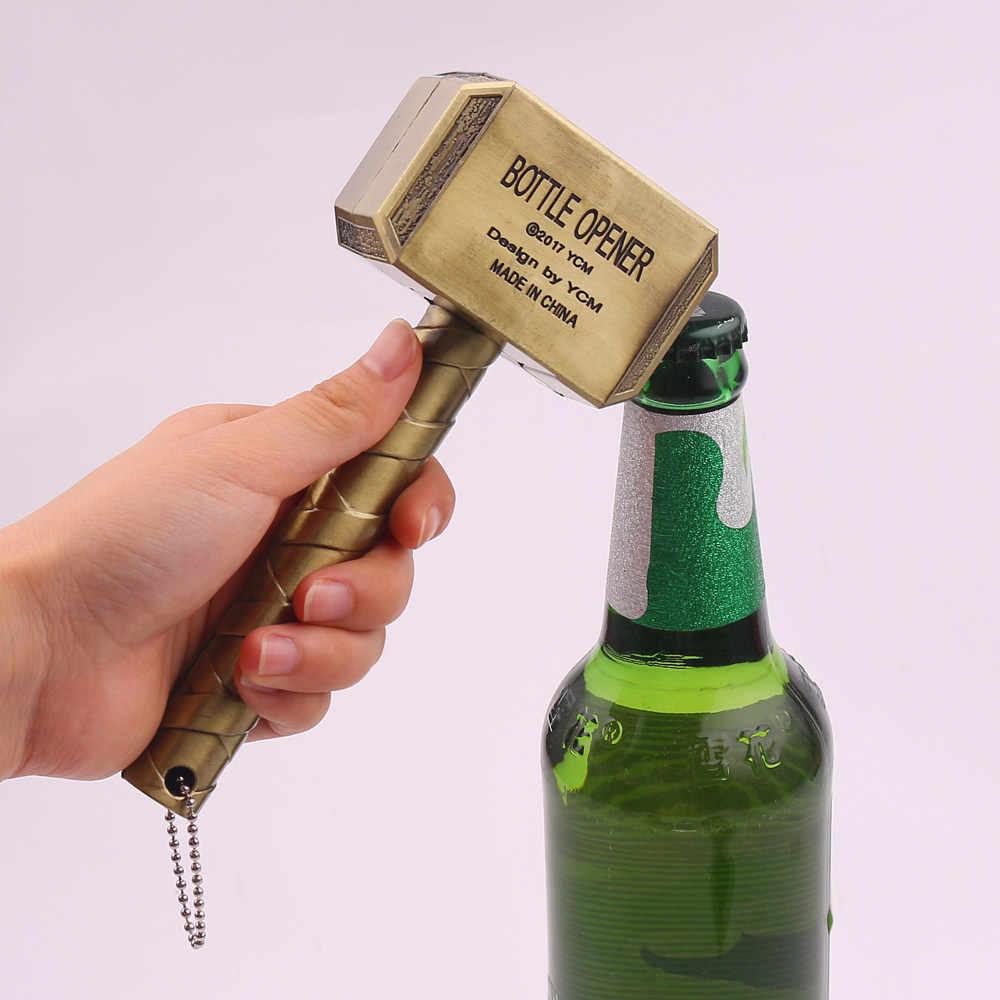 Grande Garrafa De Cerveja Abridores de Garrafa de Cerveja Abridor de chaveiro Multifuncional Martelo De Thor Punho Engarrafador Abridor chaveiros Homens Presente
