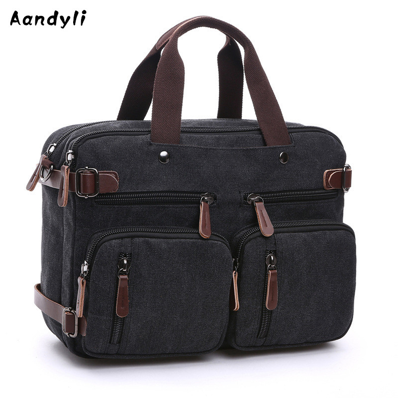 Multi Pocket Handbags Laptop Shoulder Men Crossbody bag Large capacity Canvas Messenger Bags augur large capacity men women crossbody bag for pad handbags canvas shoulder bag messenger bag