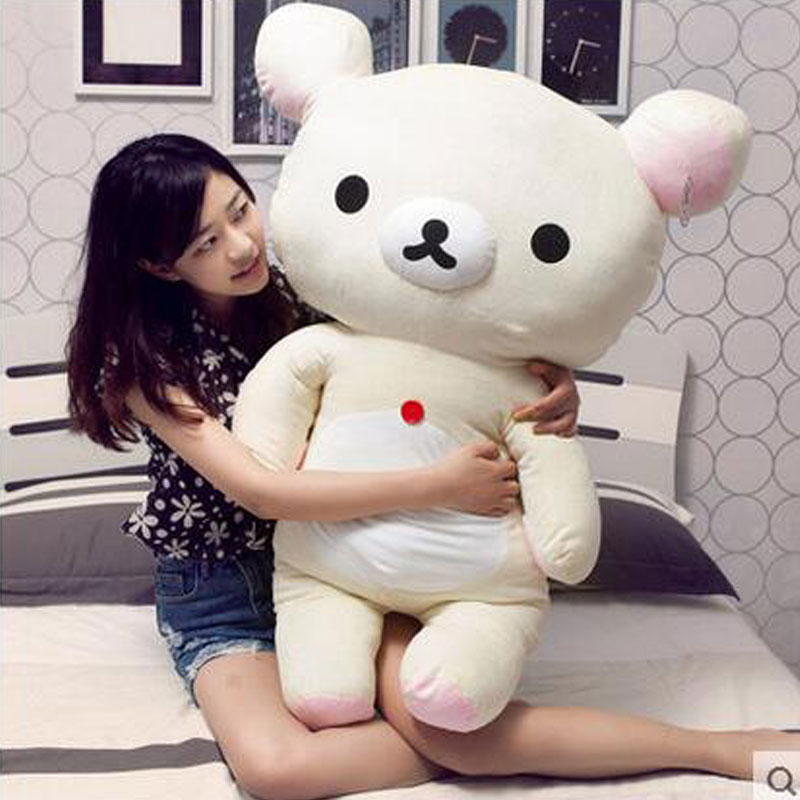 Kawai 100cm Relaxed Bear PP Cotton Bear Super Soft Short Hair Relaxed Bear Dolls Plush Toy Relaxation Bear For Children Gift super cute plush toy dog doll as a christmas gift for children s home decoration 20