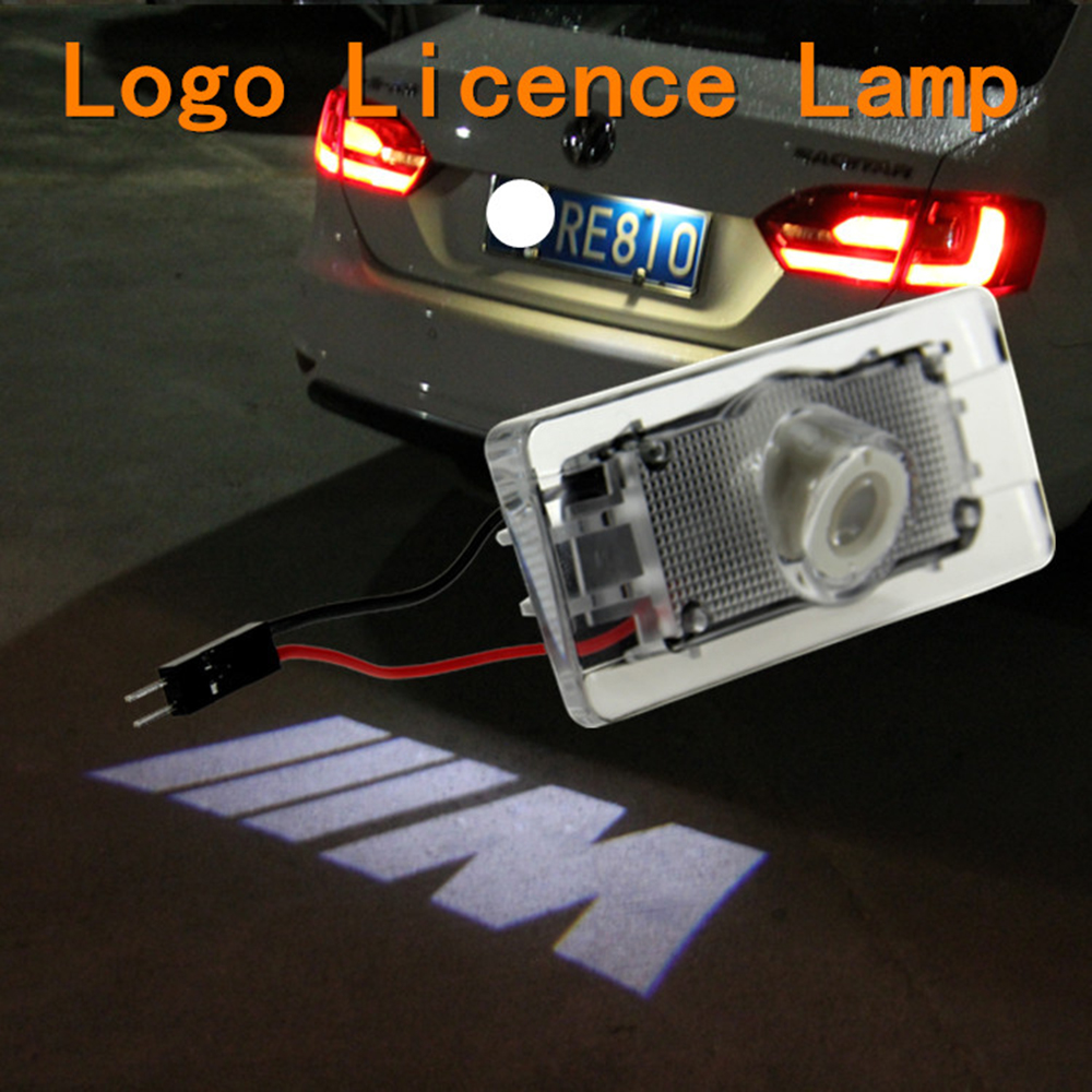 Car-Styling /// M Logo Car License Plate Lamp Warning Light Dedicated For BMW x1 x3 x5 3 5 series 2011-2014