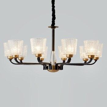 Nordic lamp modern living room chandeliers ceiling home bedroom crystal lights chandelier restaurant wrought iron glass lighting