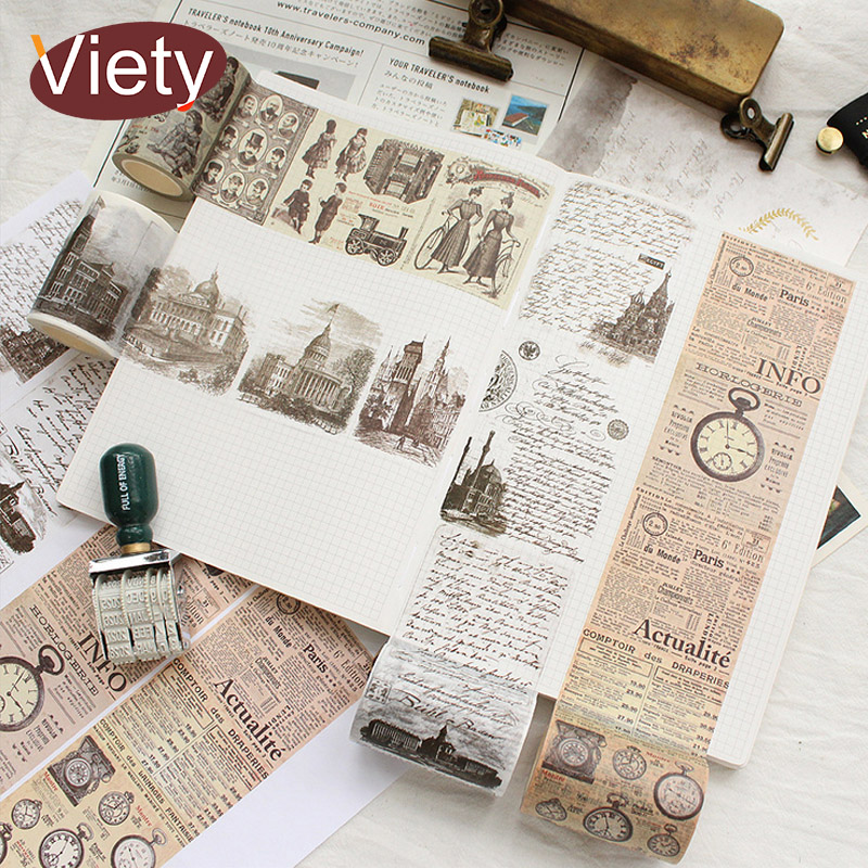 6cm*7m Vintage Europe newspaper washi tape DIY decoration scrapbooking planner masking tape adhesive tape kawaii stationery 10 rolls pack pastel washi tape diy decoration scrapbooking planner masking tape adhesive kawaii stationery