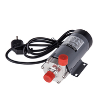 Magnetic Drive Pump 15R With 304 Stainless Steel Head,Beer Brewing, 220V European Plug with 1/2NPT thread CE Certification