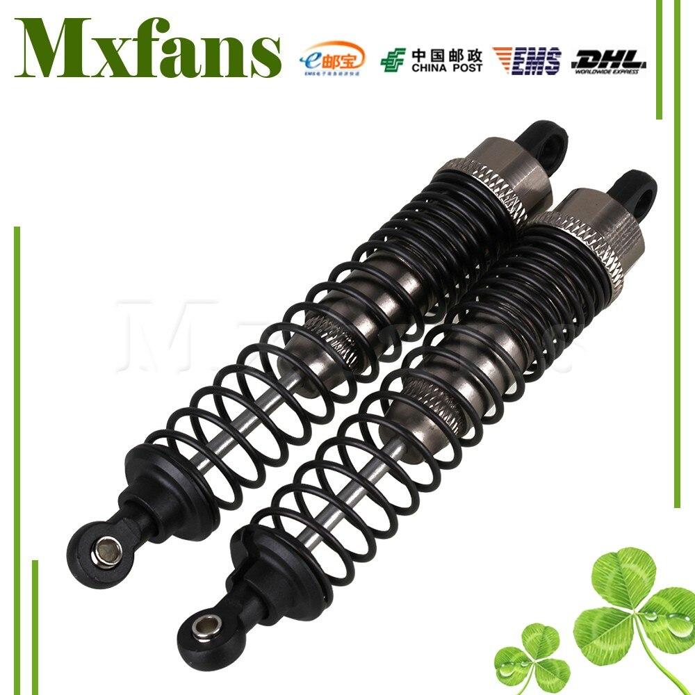 Mxfans 2 stücke silber grau 108004 legierung ersatzteile für hsp upgrade stoßdämpfer rc 1:10