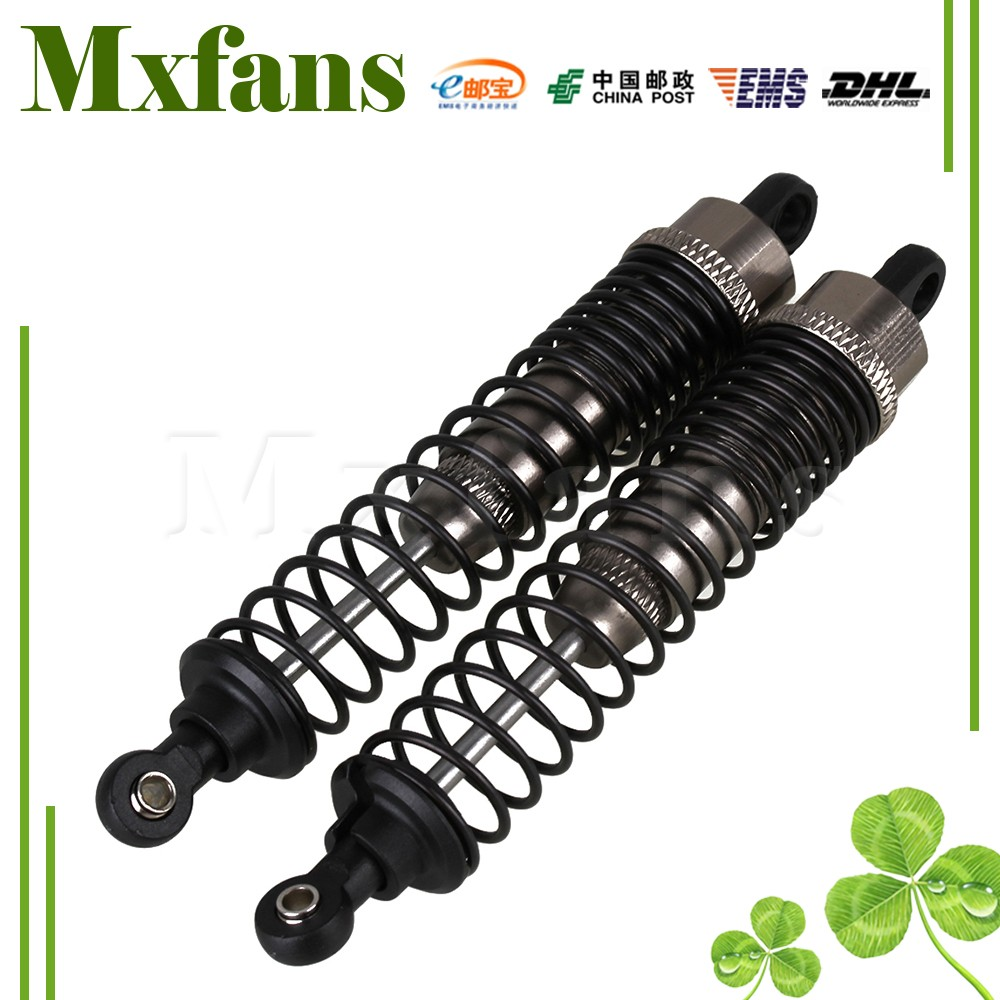 Mxfans 2pcs Silver Gray 108004 Alloy Spare Parts for HSP Upgrade Shock Absorber RC 1:10