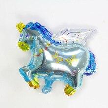 KAMMIZAD Pegasus Aluminium Balloon Birthday Anniversary Occasion Childs Toy 50pcs/lot Diconration Air Inflation Balloons