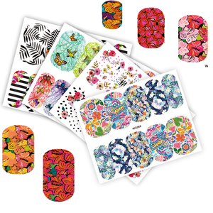 Image 3 - 25 Sheets Nail Art Sticker Sets Mixed Color Flower Full Water Decals Butterfly Slider Stickers For Polish Manicure TRWG266 290