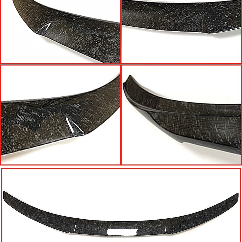 Fits For BMW G30 Forging Real Carbon fiber Trunk Spoiler wing M4 style 5 series 520i 530i 535i 540i 540iXD wing rear spoiler 17 in Spoilers Wings from Automobiles Motorcycles