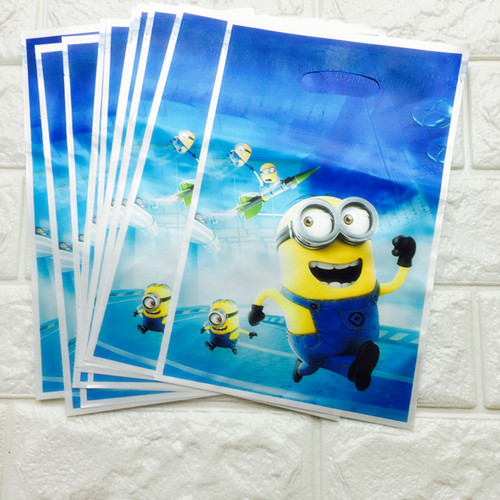 10pcs Lot Minions Loot Bag Birthad Party Decoration Return Gift Candy Festival In Bags Wring Supplies From Home Garden On