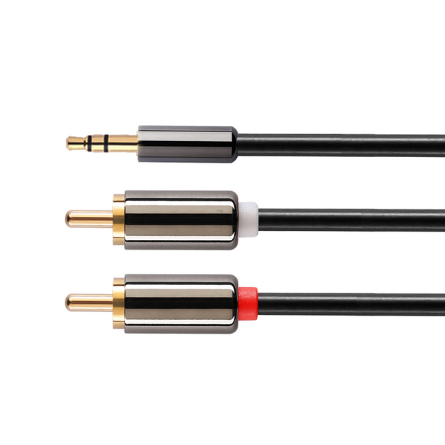 Converter cable jack 35mm rca lotus audio line male to male 1 2 converter cable jack 35mm rca lotus audio line male to male 1 2 meters aux cable for iphone tablet headphone speaker computer greentooth Images