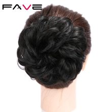 FAVE Synthetic Hairpieces For Women Curly Chignon Donut Elastic Scrunchie Hair Extensions Bundles Hairpieces Donut Buns(China)