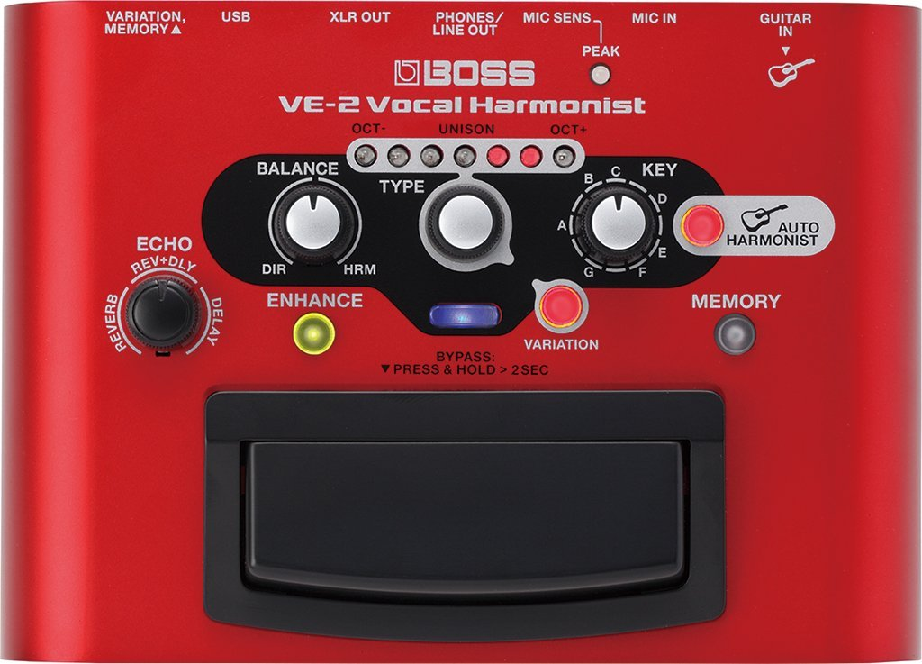 Boss VE-2 Vocal Harmonist Vocal Stompbox with Effects and Guitar-Driven Harmonies ve j62 iz