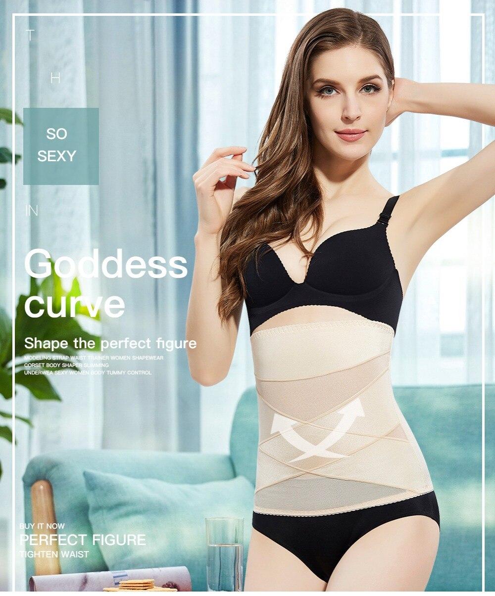 Slimming Belt Waist Trainer Slimming Underwear Modeling Strap High ... e06fc0985