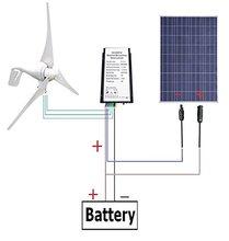 AU EU USA Stock 500 Watts Wind Solar Powered System: 12V/24V 400W Wind Turbine Generator + 100W Polycrystalline Solar Panel