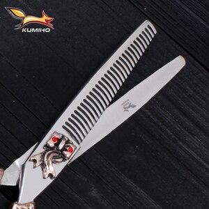 Image 5 - KUMIHO משלוח חינם שיער מספריים 6 אינץ ברבר מספריים ערכת סלון יופי מספריים עשוי יפן 440C נירוסטה