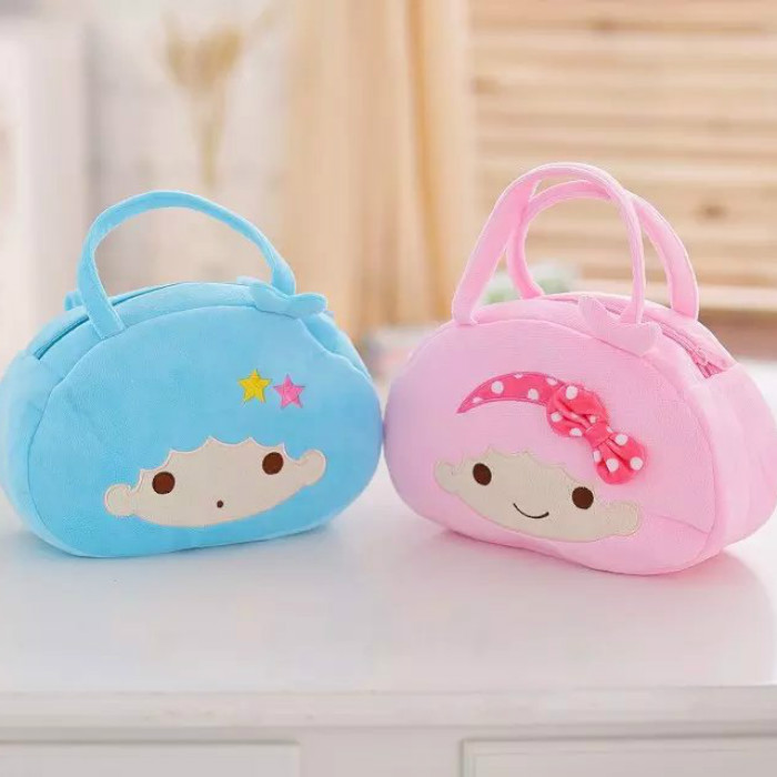 candice guo! hot sale super cute plush toy girl shoulder bag little twin star handbag birthday gift pink/ blue 1pc candice guo metoo angela girl plush toy doll small crossbody bag coin purse deer rabbit girl styles birthday gift 1pc