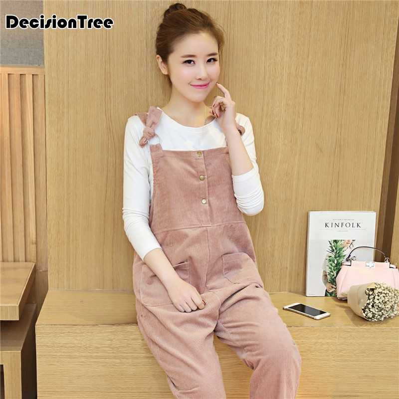 75a18ece4da3c 2019 new pregnancy clothes maternity jumpsuits corduroy overalls for  pregnant women cotton loose fit maternity bib