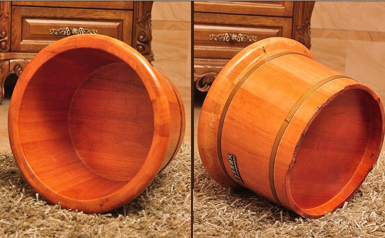 Дубовая бочка ванна для ног Бытовая ванна для ног твердое дерево устройство для паровой фумигации баррель для взрослых педикюр массаж