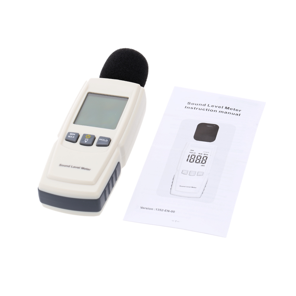 Портативный цифровой измеритель уровня звука, новое обновление, тестер шума, ЖК-дисплей, измерительный прибор для измерения уровня шума, диагностический инструмент