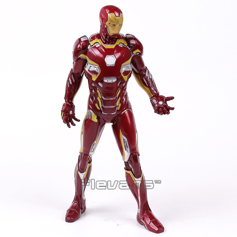 Crazy Toys Iron Man MARK XLV MK45 PVC Painted Figure Collectible Model Toy 28cm 1 6 scale 30cm the avengers captain america civil war iron man mark xlv mk 45 resin starue action figure collectible model toy