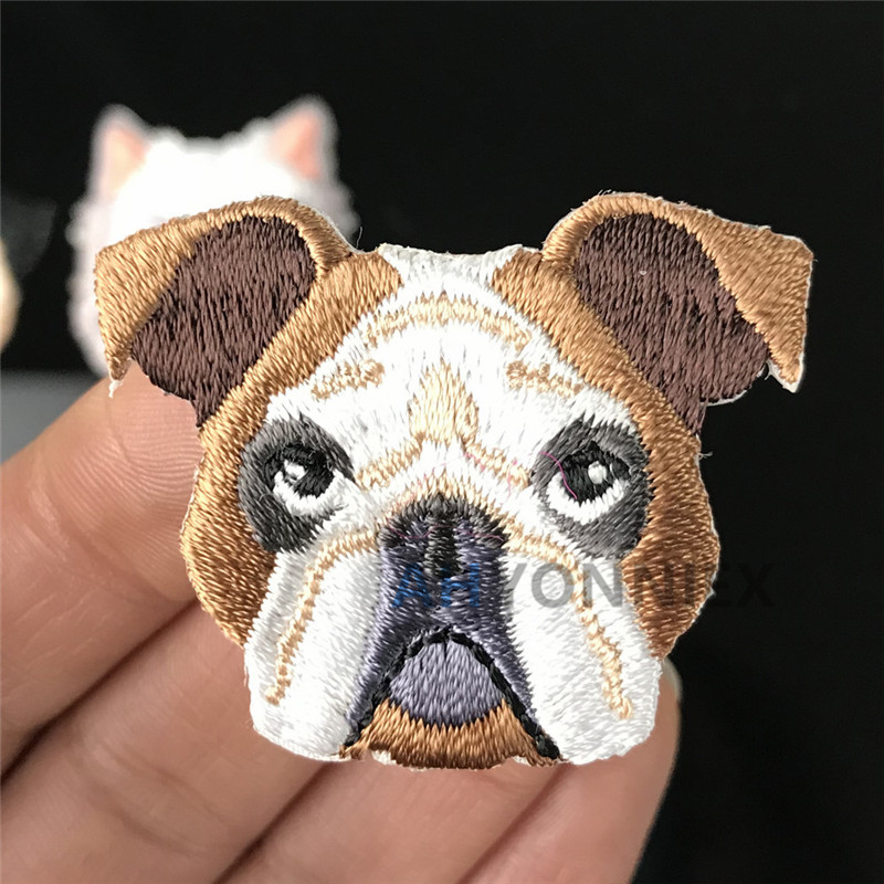 Dog Embroidered Patch Cool Gift Iron On Badge Hat Bag Clothes Kids