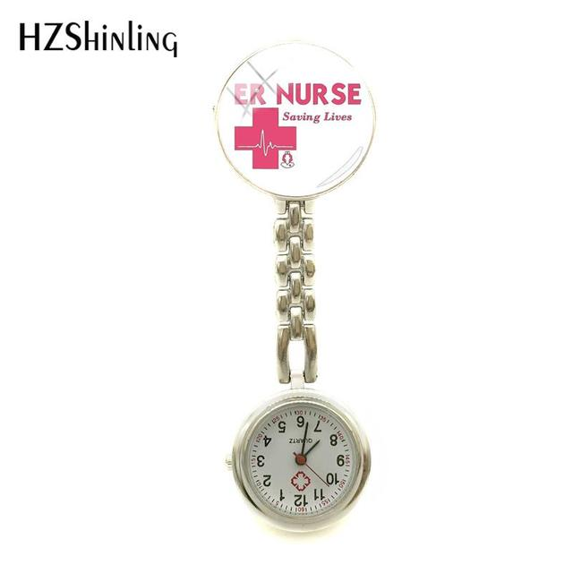 ebdcf69d844e 2018 nueva ER enfermera reloj ahorro vida emergencia Logo Departamento  enfermeras reloj plata joyas de cristal