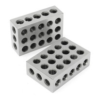 2pcs 23 Holes Precision 75mm Blocks Parallel Clamping Block Steel Block Precision Machinist Milling 0 0001