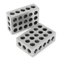 2pcs 23 Holes Precision 75mm Blocks Parallel Clamping Block Steel Block Precision Machinist Milling 0 0001