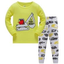 Autumn Children Pajamas Boys Pure Cotton Suit kids Catamite Children's Garment Thin Section Cartoon Home Clothes Serve Pyjamas