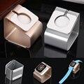 Metal de aluminio de aleación de mini para apple watch soporte del muelle del cargador estación de carga para apple watch 38mm 42mm