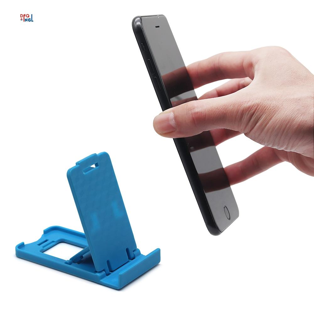 DFQNGL Desktop Phone Holder Foldable Universal Mobile Phone Stand Holders for iPhone Xiaomi Samsung Huawei Desktop Mount Bracket Car phone