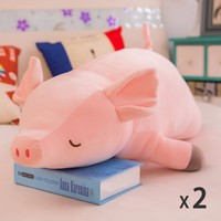 ZT2Pcs Free Shipping Down Cotton Plush Toy Pink Pig Pillow Delivery Girl Student Child Cute Doll SY ML11