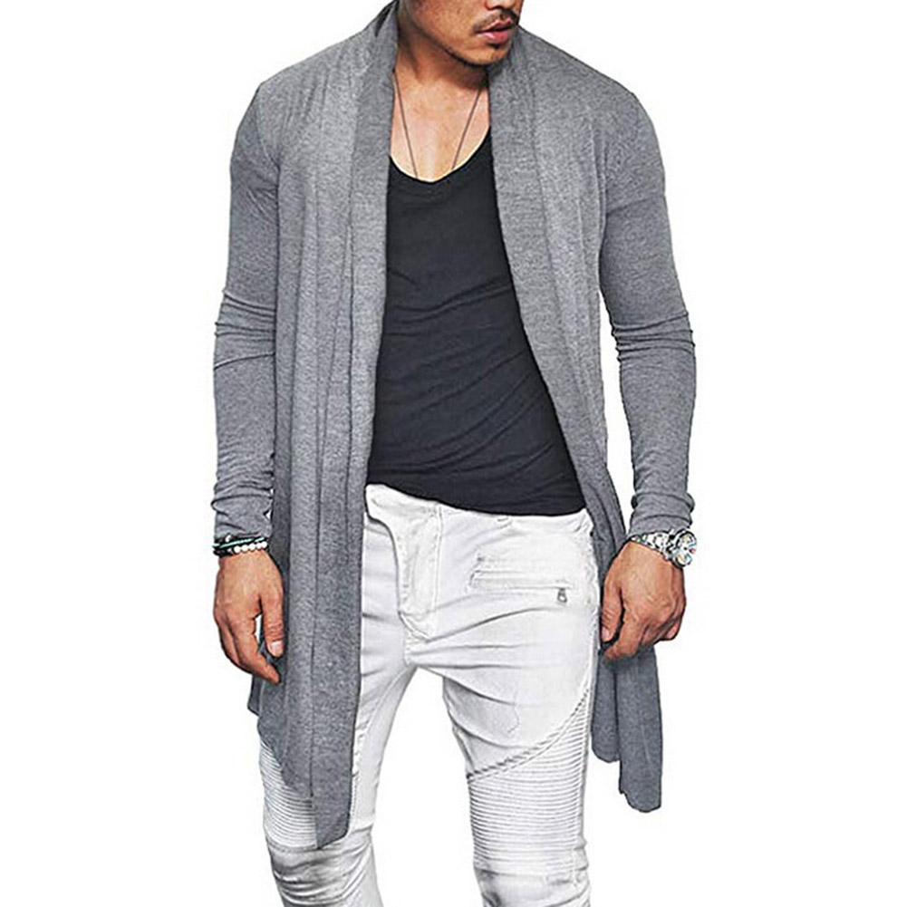 YJSFG HOUSE Sweater Men 2018 New V-Neck Long Sleeve Knitted Cardigan Men's Solid Color Slim Fit Cardigan Sweaters Man Coat