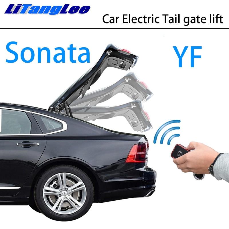 LiTangLee Car Electric Tail Gate Lift Trunk Rear Door Assist System For Hyundai Sonata YF 2009~2015 Original Key Remote Control