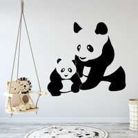 Nuevo pandas pegatinas de pared autoadhesivo papel pintado de arte para cocina restaurante fondo de pared calcomanía de arte
