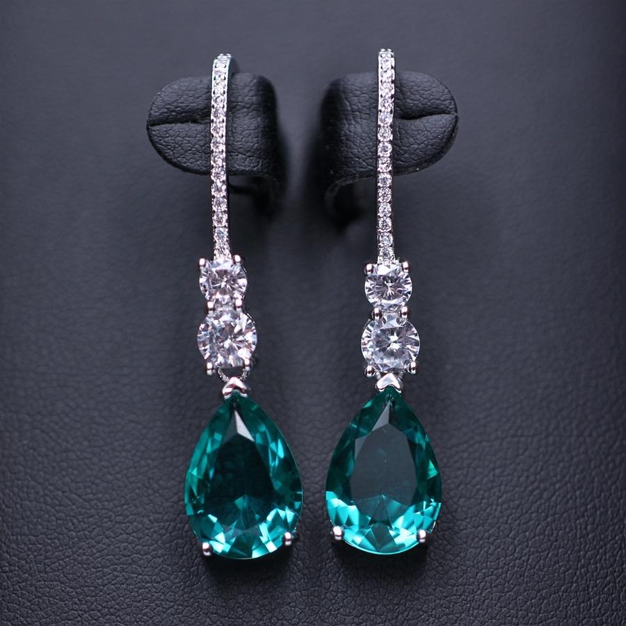 Water drop earrings for women Gifts Long Pendant Dangle Drop Earring Fashion Elegant Charm Cubic Zircon Earrings Wedding Jewelry